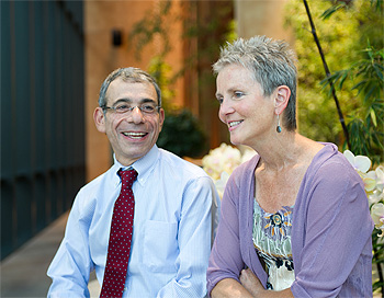 Eric Winer, MD, with a breast cancer patient