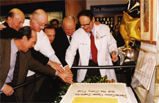 In 1997, Benacerraf (third from right) joined other Dana-Farber leaders in marking the Institute's 50th birthday