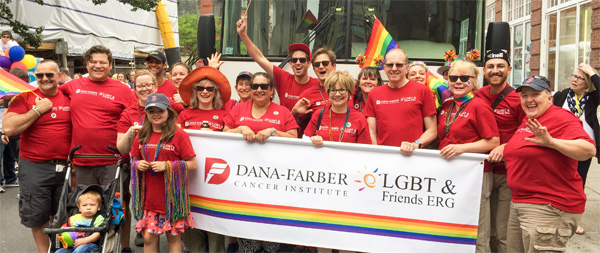 LGBTQ employees at the Gay Pride Parade