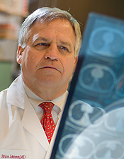Dr. Bruce Johnson is a leading medical oncologist and researcher.