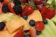 Fresh fruit is an important part of a balanced diet.