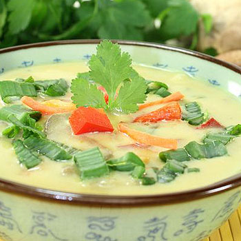 Asian Chicken and Coconut Soup