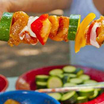 Chicken Vegetable Kabob