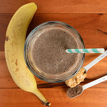 Chocolate Peanut Butter and Banana Shake