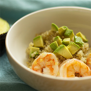 Ginger, Avocado, Shrimp Bowl