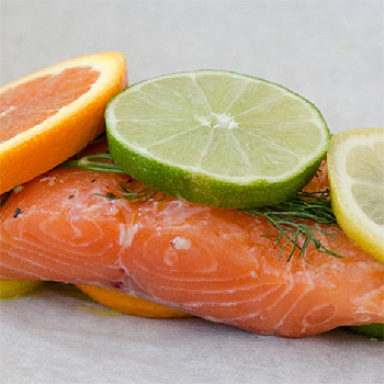 Parchment Wrapped Citrus Salmon