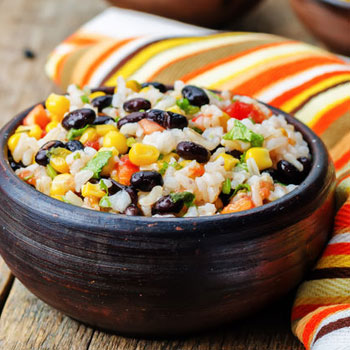 Red Rice Fiesta Beans Salad