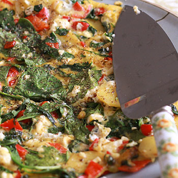 rosemary and veggie frittata