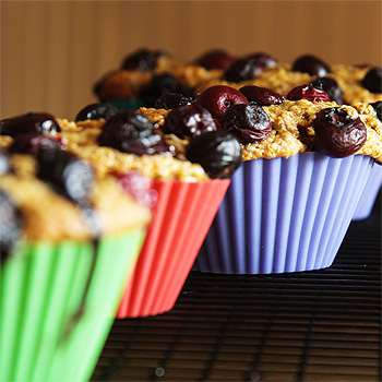 Wheat Germ Muffins with Blueberries