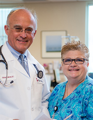 Michael Anderson, MD, and Jane Goldie, RN