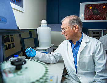 The discovery by Gordon Freeman, PhD, of proteins that fend off an immune system attack on cancer cells has opened a new avenue of cancer therapy.