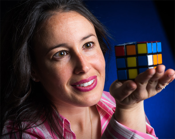 For researcher Cigall Kadoch, PhD, the Rubik's cube represents a love of puzzles, as well as the structure of the protein complexes she studies.