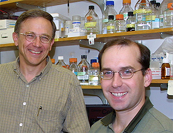 Stanley Korsmeyer, MD (left), shown with Anthony Letai, MD, PhD, was a pioneer in Bcl-2 inhibitor research.