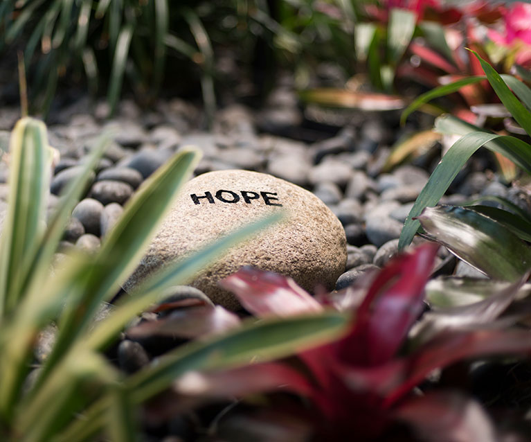 Healing Garden Hope rock - mobile