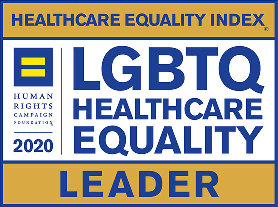 Healthcare Equality Index logo - Leader 2020