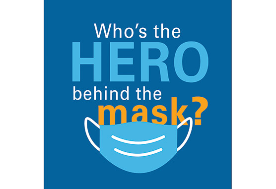 Who's the hero behind the mask?