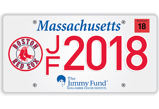 Boston Red Sox Jimmy Fund License Plate