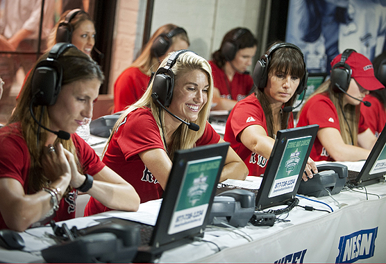 Boston Red Sox wives during Radio-Telethon