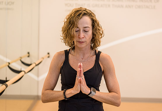 Zakim Center yoga instructor