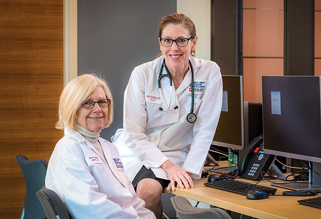 Jean Landry, RN, (left) and Beth Overmoyer, MD