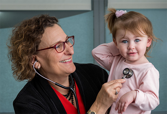 Lisa Diller, MD, with patient