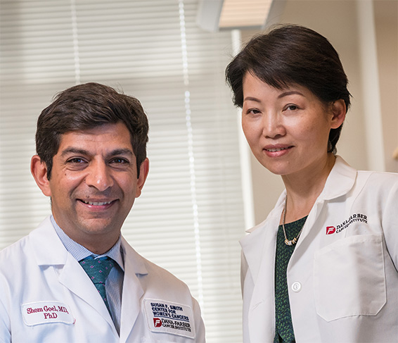 Shom Goel, MD, PhD, and Jean Zhao, PhD