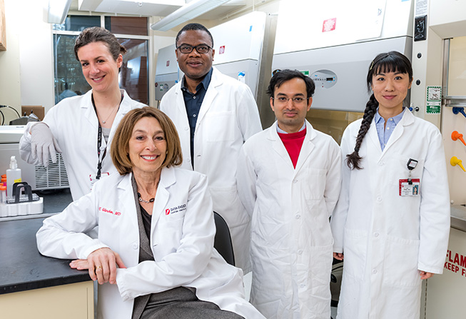Laurie H. Glimcher, MD with staff members from her lab