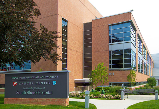 Dana-Farber/Brigham and Women's Cancer Center in clinical affiliation with South Shore Hospital building