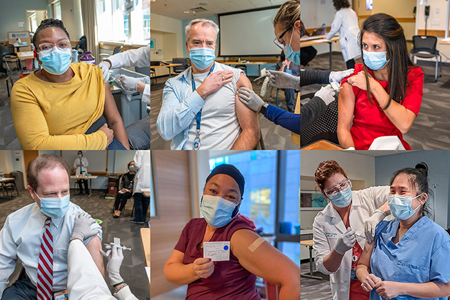 collage of employees receiving COVID-19 vaccinations - 2