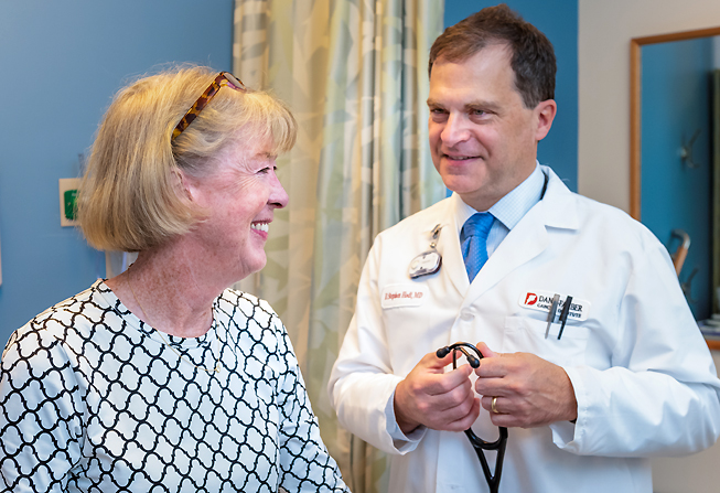 F. Stephen Hodi, MD, with patient, Mary Gooding