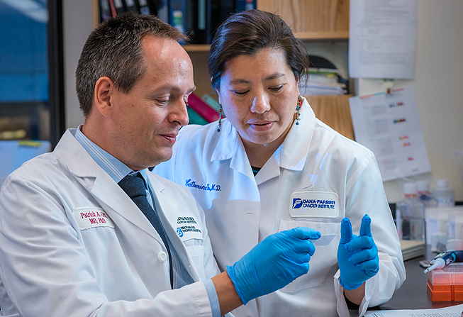 Patrick Ott, MD, PhD (left), and Catherine Wu, MD