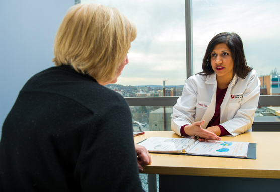 Huma Rana, MD counsels patient on cancer risk - two promo