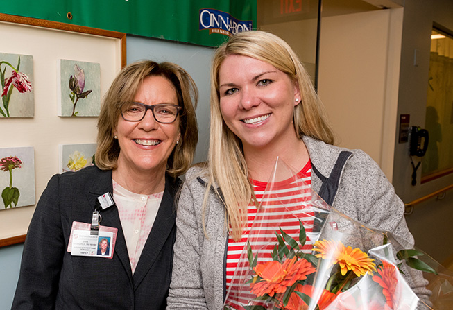 Anne Gross, Chief Nursing Officer, and Katlin Boudreau, RN, BSN