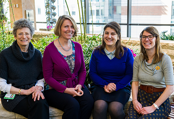 Susan Englander, Karen Fasciano, Phoebe Souza and Anne Bielaczyc of the YAP Conference Planning Team