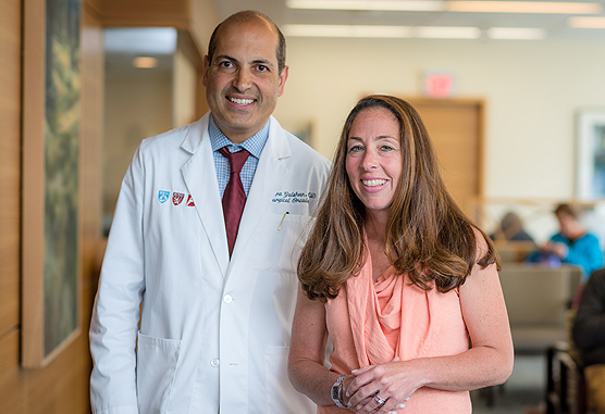 Mehra Golshan, MD, FACS, with a breast cancer patient