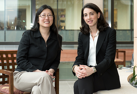 Nancy Lin, MD (left), and Erica Mayer, MD, MPH