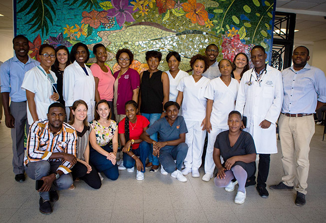 Haiti clinic staff members