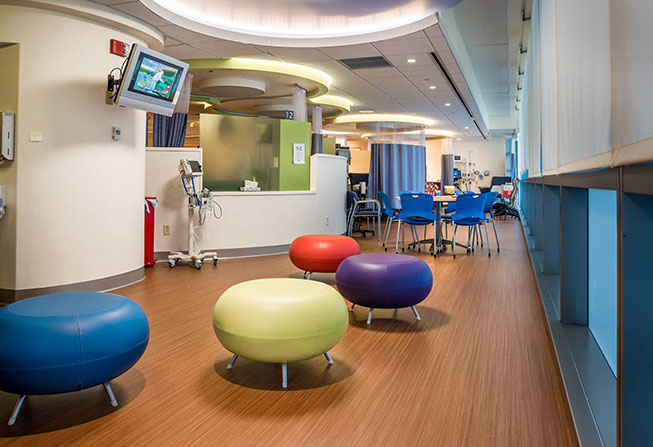Jimmy Fund Clinic Infusion Area