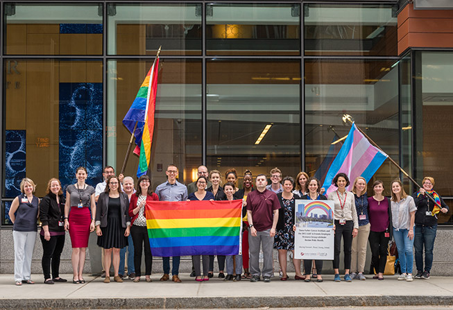 members of Dana-Farber's LGBTQ employee group