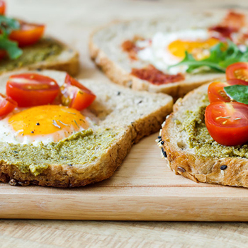 Egg Pesto Breakfast Sandwich