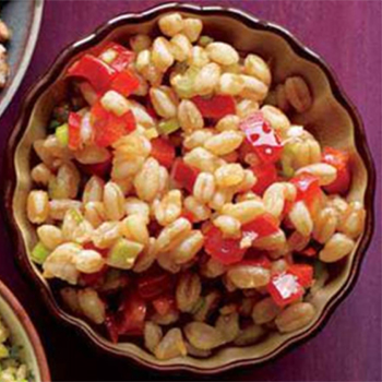 Red Pepper Farro Salad