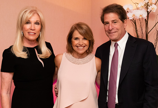 Michele and Howard Kessler with Katie Couric