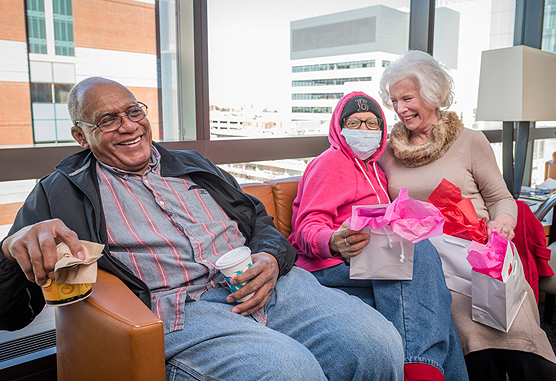 Friends' volunteers deliver gift bags to patients