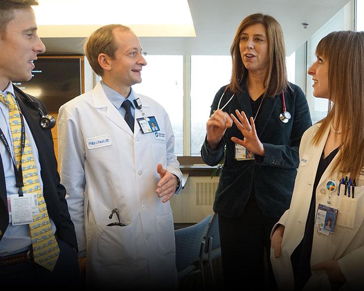 Ann S. LaCasce, MD, MMSc, with medical oncology fellows