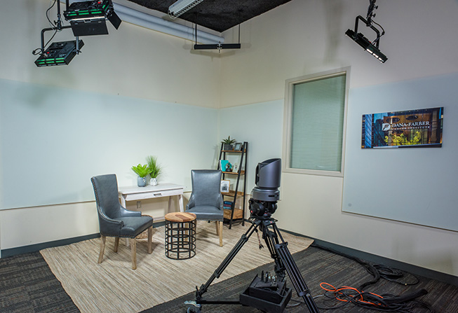 Dana-Farber's television and production studio - 9